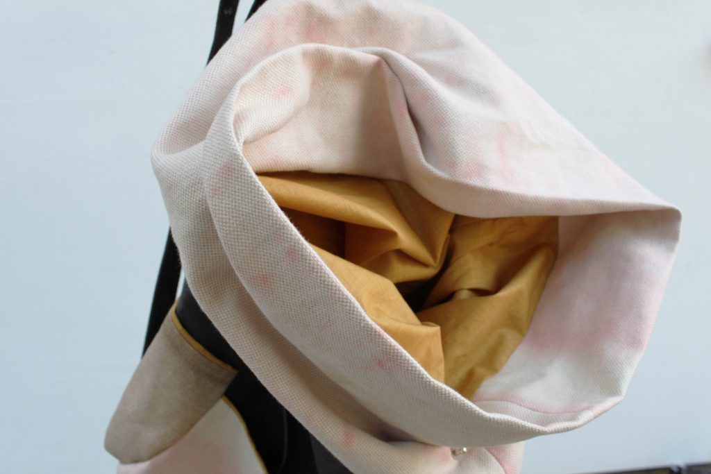 Pink textile bag