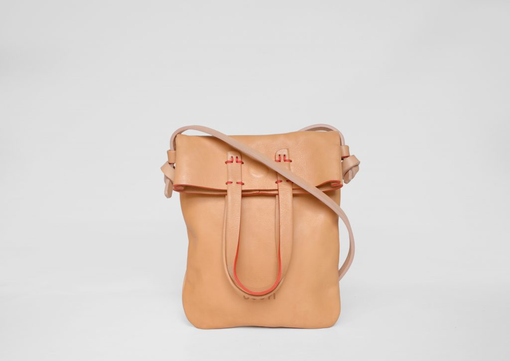 small natural leather bag