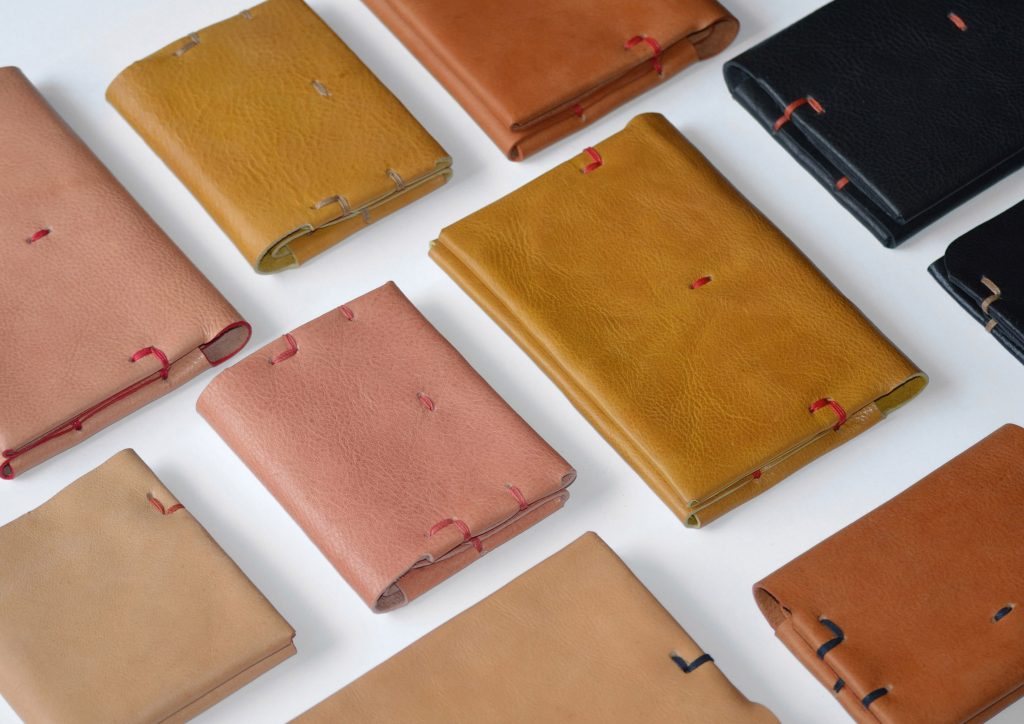 leather wallets in different colors